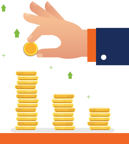 Stacking Coins Illustration